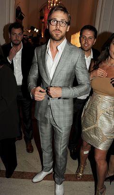 Slim Mens Suits are in Vogue image ryangosling