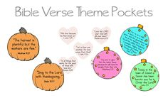Bible Verse THEME Printables for Kids- Valentines day, Thanksgiving, and Christmas