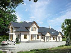 Budynek z oddzielnymi wejściami do trzech lokali - może być użytkowany przez trzy rodziny.