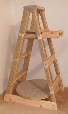 Ladder cat tower scratching post                                                                                                                                                                                 More