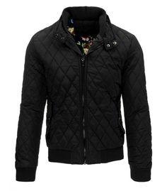 Pánska prešívaná čierna bunda