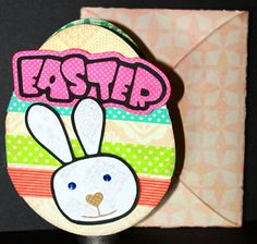 Easter Bunny Egg Card, SVG Cutting File Kit.  Super easy! Egg Card, Easter Bunny Eggs, Bunny Face, Cute Bunny, Card Kit, Cutting Files, Etsy Store, Create, Super Easy