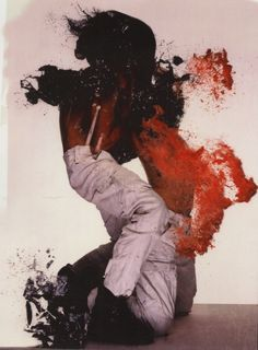 atavus:  Nick Knight - Collage for WAR, for Big Magazine, 1997