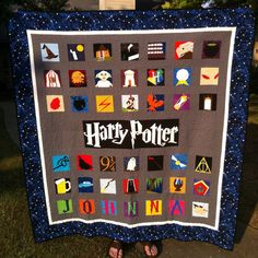 Paper pieced Harry Potter quilt!