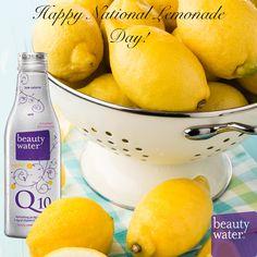 Happy National Lemonade Day from Everyone at Beauty Water!  #nationallemonadeday #beauty #water #supplements #women #health #skincare #beautywaterq10 #antioxidant #energy #nutrition #womenshealth #followus #likeus #CoQ10 #Vitamins #fashion #beautiful #popular #love #Heart #Antiaging