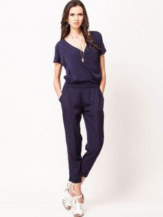 jumpsuit for women. Model wearing Melika M red color Jumpsuit from ...
