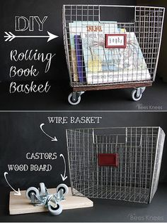 The Best of DIY (Part I) covered the first batch of our current favorite DIY projects around the web. Part II continues, providing seven more modern, clever and crafty ideas that can easily be replicated. Wire Wall Basket, Wire Baskets, Baskets On Wall, Book Bins, Book Baskets, Michaels Crates, Diy Craft Projects, Diy And Crafts, Craft Ideas