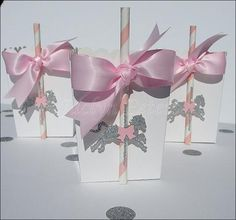 Celebrate birthdays and baby showers with our carousel party favor boxes. Our gorgeous, hand made popcorn style boxes are a must have for your dessert table or to package take home treats for your gue Carousel Birthday Parties, Carousel Party, Unicorn Birthday Parties, Unicorn Party, Girl Birthday, Carousel Cupcakes, Pink Party Favors, First Birthdays, Silver Glitter