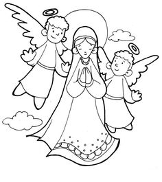 Letter to Mary Catholic Coloring Page | Catholic Coloring Pages ...