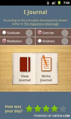 Can I successfully mini-journal using my Android? About to find out, using the brilliant happiness guru Shawn Achor's guidelines. (Come see him at TEDxBloomington in May!)