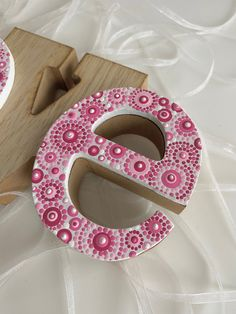 Painting Wooden Letters, Painted Letters, Decorate Wooden Letters, Hand Painted, Dot Art Painting, Pottery Painting, Yarn Wrapped Letters, Mandala Dots, Mandala Design