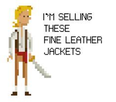 Monkey Island Guybrush Threepwood Quote - Cross Stitch Pattern - Instant Download