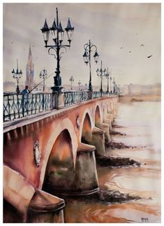 Aquarelles urbaines - Aquarelle Marichalar Watercolor