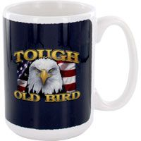Tough Old Bird Eagle Mug. Every time you shop at The Veterans Site store, you help provide meals to homeless veterans, and veterans and their families who are struggling to make ends meet -- at no extra cost to you.