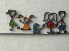 quilled family icons