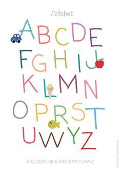 Plakat z alfabetem Abc Poster, Kids Poster, Quote Posters, Arabic Alphabet For Kids, Kids Prints, Preschool Crafts, Nursery Wall Art, Teaching Kids, Picture Quotes