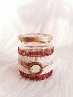 Frasco rústico reciclado/ Handmade rústico jar