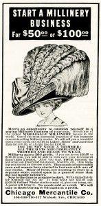 Old Design Shop ~ free digital image: large hat vintage millinery advertisement
