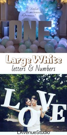 White Large foam letters by LAvenueStudio. Styrofoam letters, Large foam letters, Custom foam letters, Wedding love sign. Wedding oversized decoration for indoor and outdoor.