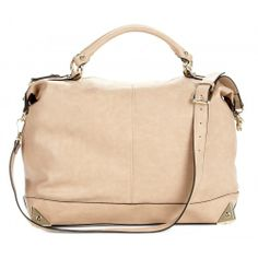 Taupe Zip Tote