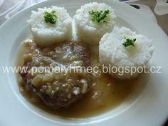Roštěnky v pomalém hrnci Multicooker, Baked Potato, Mashed Potatoes, Crockpot, Rice, Meat, Baking, Ethnic Recipes, Desserts