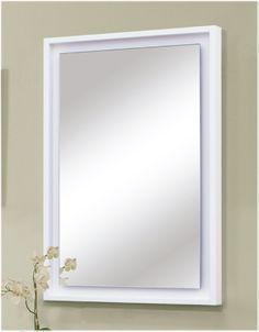 """Audra Bath Vanity Collection Mirror with """"Floating"""" Glass Panel. www.sagehilldesigns.com Bath Vanities, Pinterest Board, Glass Panels, Kitchen And Bath, Bathroom Accessories, Vanity, Mirror, Collection, Design"""