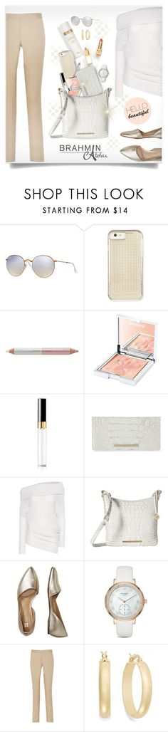 """""""Mighty Bag"""" by kiki-bi ❤ liked on Polyvore featuring Ray-Ban, Rebecca Minkoff, Jane Iredale, Sisley, Chanel, Brahmin, Calvin Klein Collection, Bzees, Kate Spade and Burberry"""