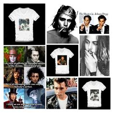 """""""Johnny Depp"""" by pocketchangetees ❤ liked on Polyvore featuring Vanity Fair"""