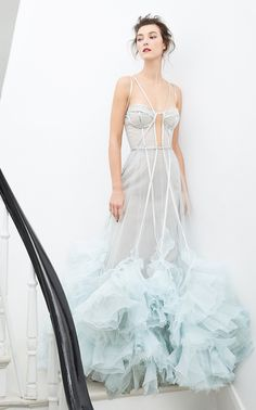 Get inspired and discover Marchesa trunkshow! Shop the latest Marchesa collection at Moda Operandi. Couture Dresses, Fashion Dresses, Tutu, Marchesa Gowns, Marchesa Wedding Dress, Organza Dress, Dressy Dresses, Club Dresses, Linen Dresses