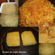 Pastel de patata con cebolla caramelizada | Cocina