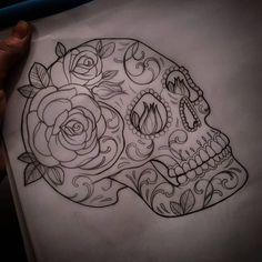 Mexican heritage sugar skull tattoo - Famous Last Words Hand Tattoos, Love Tattoos, Body Art Tattoos, Garter Tattoos, Rosary Tattoos, Crown Tattoos, Mexican Skull Tattoos, Sugar Skull Tattoos, Sugar Tattoo