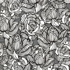 Calista Grey Modern Rose Wallpaper design by Brewster Home Fashions