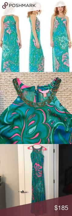 Lily Pulitzer Franconia maxi Lily Pulitzer Franconia maxi! Worn only a couple times and just picked up from the dry cleaner! Excellent condition! Size 2 Lilly Pulitzer Dresses Maxi