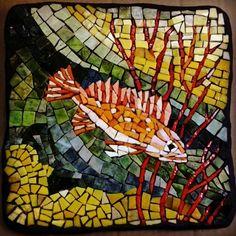 Rosy Rockfish, smalti glass mosaic SOLD