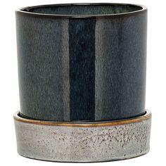 Smooth blomsterpotte, blå/brun i gruppen Inredningsdetaljer / Dekorasjon / Vaser & Potter hos ROOM21.no (1026664)