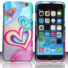 """myLife Soft Pink and Bubbly Blue {Crazy Hearts Butterfly Bubbly Colorful} 2 Piece Snap-On Rubberized Protective Faceplate Case for the NEW iPhone 6 (6G) 6th Generation Phone by Apple, 4.7"""" Screen Version """"All Ports Accessible"""" myLife Brand Products http://www.amazon.com/dp/B00U0NLQ64/ref=cm_sw_r_pi_dp_Yfhfvb0EPZFGV"""