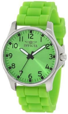 Invicta Women's 11728 Wildflower Green Dial Green Silicone Watch Invicta, WOMEN'S WATCHES  if you wish to buy just CLICK on AMAZON right HERE http://www.amazon.com/dp/B00763NCMC/ref=cm_sw_r_pi_dp_6XKQsb00Q837CXX0