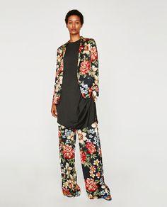 NYMPH 2017 Women Vintage Printed Blazer Long Sleeve Coat Pockets with Belt Jackets Outerwear European Style Casaco Feminine Tops Blazer Floral, Zara, Blazers, Printed Blazer, Costume, European Fashion, European Style, Outerwear Jackets, Ideias Fashion