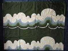 """1970s Barbara Brenner TAMPELLA Finland Intair 57x 92.75"""" curtain fabric Sottsass #IntairTampella"""