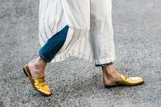 Street Style | The Princetown Metallic Gucci Slipper