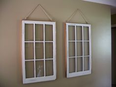 White Window Pane Wall Mirror