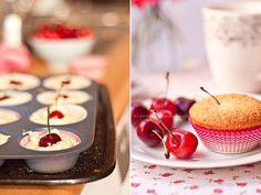 pieprz czy wanilia fotografia i kulinaria: Pourlopowo. Czereśniowe babeczki z kardamonem.