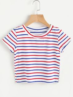 5de4967209c Contrast Striped Tee Only US 5.00 Pretty Outfits, Cute Outfits, Fashion  Outfits, Fast