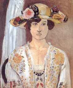 Woman with a Flowered Hat  Mr & Mrs Herbert J. Klapper Collection, New York 58.9 x 49.9 cm. 1919