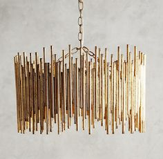 lamp Harlow & Thistle - Home Design - Lifestyle - DIY: DIY Gold Light - Anthropologie Hack Looking for a unique gold chandelier? Check out this easy and cheap DIY project. Chandelier Design, Gold Chandelier, Chandelier Ideas, Chandeliers, Unique Chandelier, Chandelier Makeover, Handmade Chandelier, Luxury Chandelier, Gold Diy