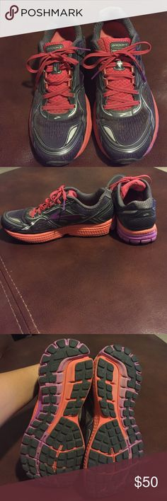 "Brooks ""Ghost"" running shoes Amazing condition. These are used, but meant for a neutral fit. The tread of these shoes are great. Plenty of miles left on these. No box. Brooks Shoes Athletic Shoes"