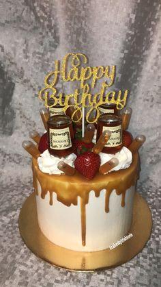 Hennessy Drip Cake