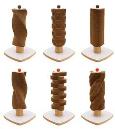 $95 Scratch Tower Modern Cardboard Cat Scratching Tower from Moderncat Studio. #cats #CatScratcher