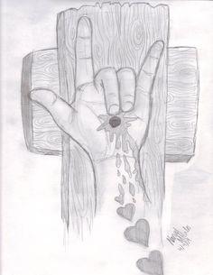 Jesus signed I love you