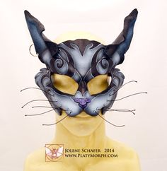 Made To Order Dark Cheshire Cat -- Alice Madness Returns Inspired Leather Cosplay Mask